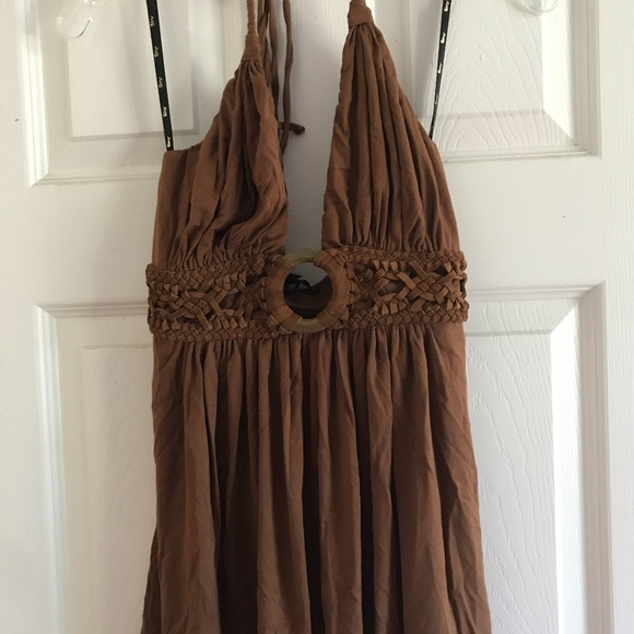 Sky Tops - NWT Sky brand halter tank top with braided suede